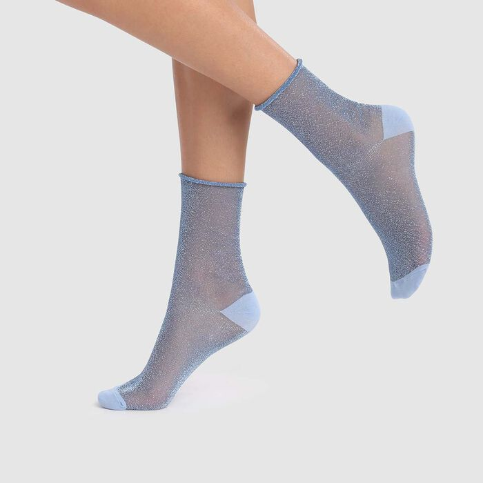 Calcetines de lurex transparentes azul cachemire Dim Style, , DIM