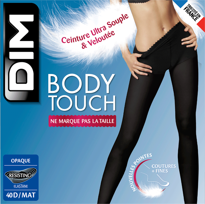 Collant noir Body Touch Opaque 40D-DIM