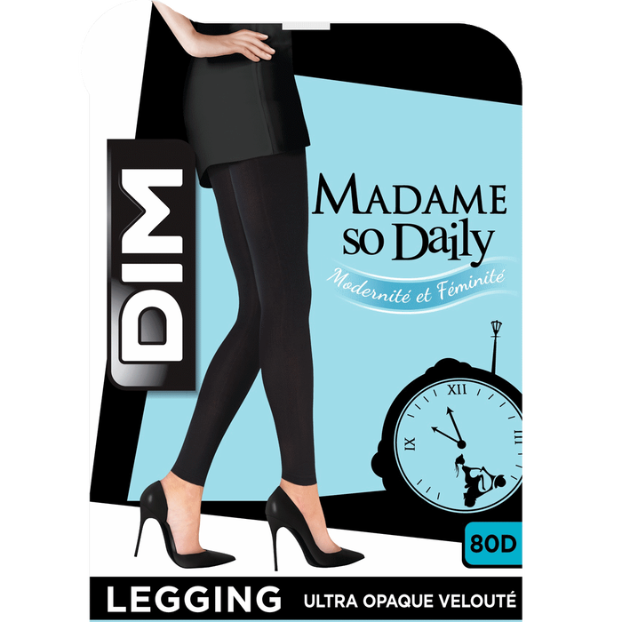Legging bleu marine opaque velouté 80D Style-DIM