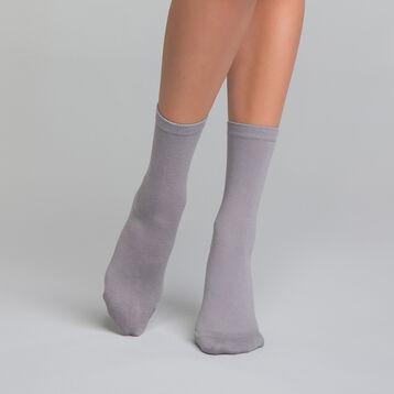Calcetines de algodón grises - Dim Basic Coton, , DIM