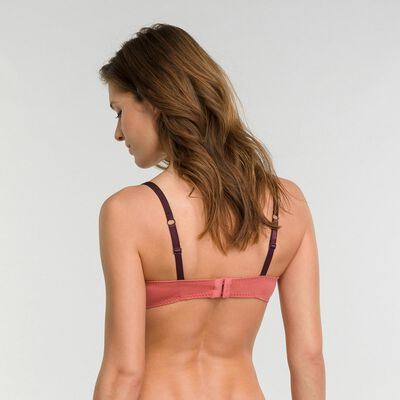 Sujetador de encaje clásico rosa y negro - Dim Sublim Dentelle, , DIM