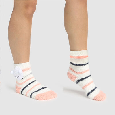 Calcetines para niños antideslizantes oveja 3D marfil Kids Cocoon, , DIM