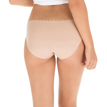 Lot de 2 slips new skin et blanc en coton Body Touch-DIM