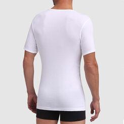 Camiseta blanca de cuello pico sin costuras Dim Excellence, , DIM