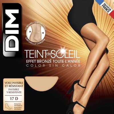 Collant clair Teint de Soleil Effet bronzé naturel 17D-DIM