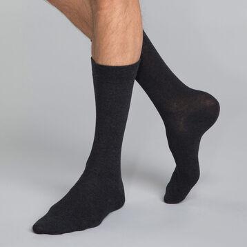 Calcetines de algodón grises Hombre - Dim Basic Coton, , DIM
