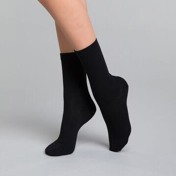 Calcetines de algodón negros - DIM Basic Coton, , DIM