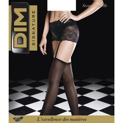 Panti liguero con cintura de encaje negro Signature 20D, , DIM
