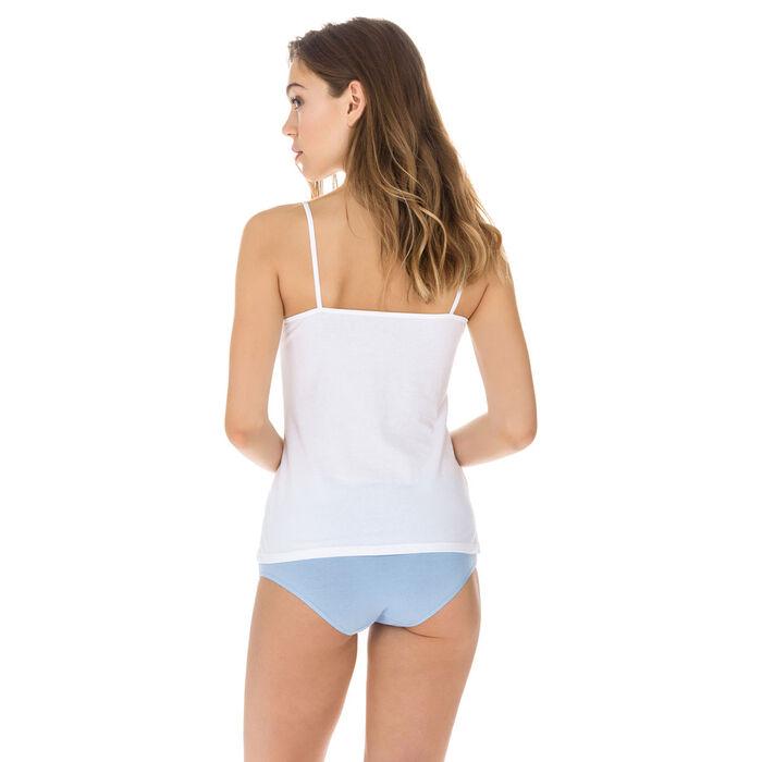 Lote de 2 camisetas blancas Les Pockets de algodón, , DIM