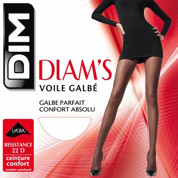 Collant noir Diam's Voile Galbé 22D-DIM