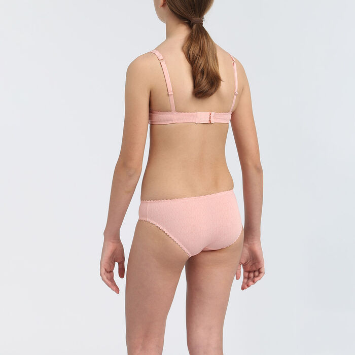 Dim Touch girls' blush pink microfibre padded bra , , DIM