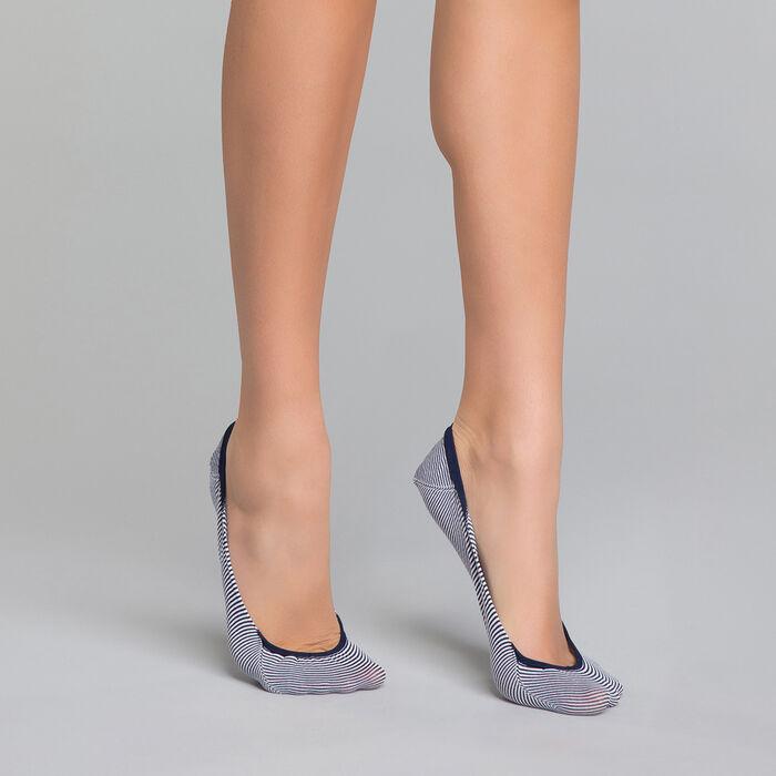 Pinkies mujer de rayas azul marino - Invisifit, , DIM