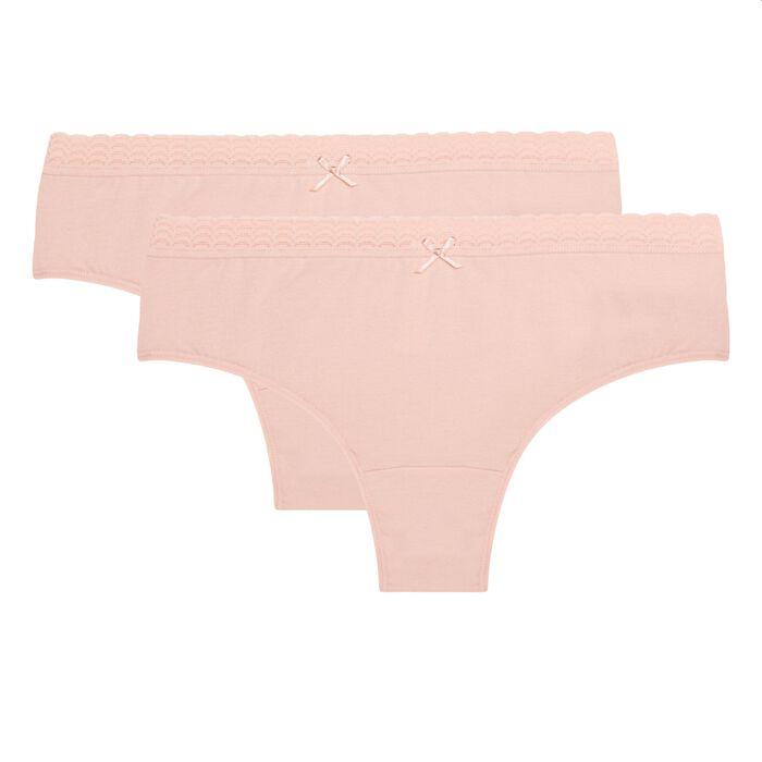 Pack de 2 braguitas piel coton stretch Dim Basic Fashion, , DIM