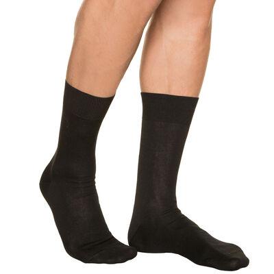 Calcetines negros para hombre de hilo de Escocia, , DIM