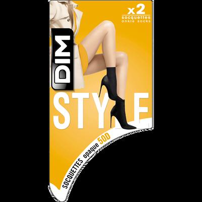 Lot de 2 socquettes noires opaques Style 40D-DIM