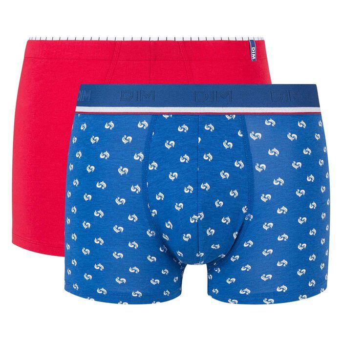 Pack de 2 bóxers rojo y azul estampado Eurocopa 2020 Dim Cup, , DIM