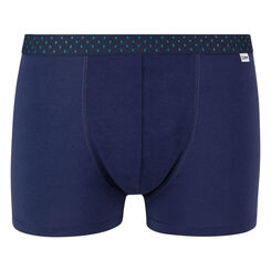 Bóxer azul de algodón elástico cintura estampada de rombos Mix and Fancy, , DIM
