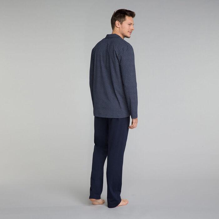 Camisa de pijama azul marino estampada - Mix and Match, , DIM