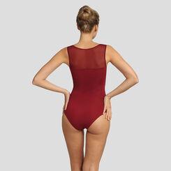 Body sin aros de microfibra y tul rojo Reine de Coeur Micro Mesh, , DIM
