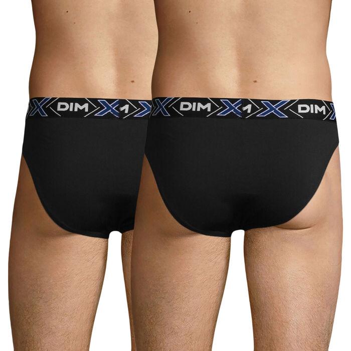 Pack de 2 slips negros X-Temp de algodón elástico, , DIM