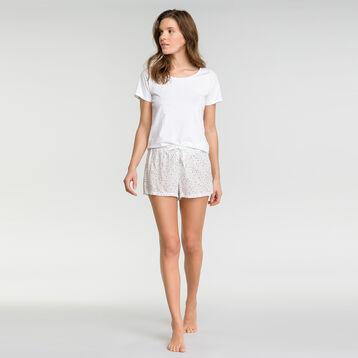 Pantalón de pijama blanco estampado manchas - Fashion, , DIM