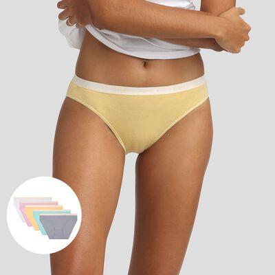 Pack de 5 braguitas pastel Les Pockets Agnès B x Dim, , DIM