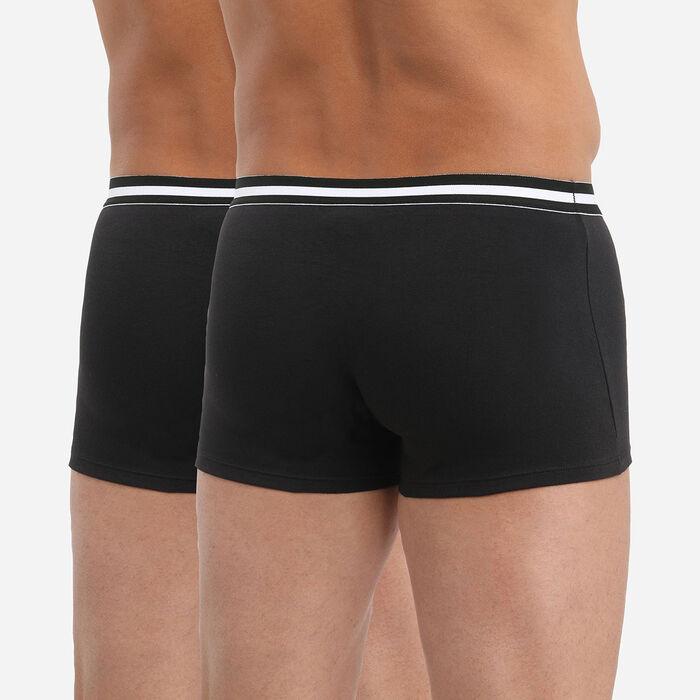 Pack de 2 bóxers negros de algodón elástico EcoDIM, , DIM