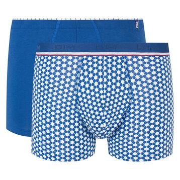 Pack de 2 boxers azul y estampado balones Eurocopa 2020 Dim Cup, , DIM