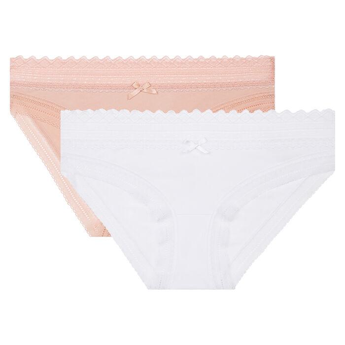 Pack de 2 braguitas blanca y skin rose Sexy Fashion de Dim, , DIM