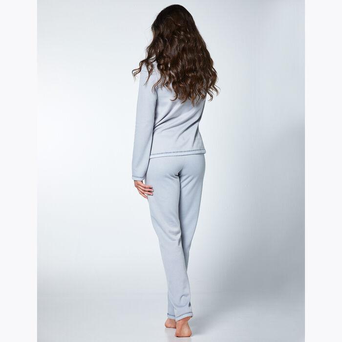 Conjunto de pijama de mujer efecto gris polar, , DIM