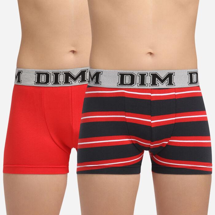 Pack de 2 bóxers rojos para niño de algodón elástico Rythmics, , DIM