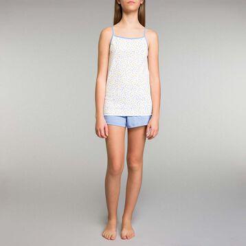 Pijama corto de niña con estampado de limones - Lemon, , DIM