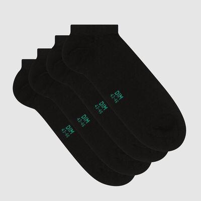 Pack de 2 pares de calcetines bajos para hombre lyocell negro Green by Dim, , DIM