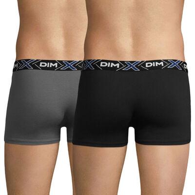 Pack de 2 bóxers gris azulado y negro X-TEMP, , DIM