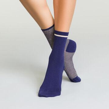 Pack de 2 pares de calcetines azul galaxia efecto lurex , , DIM