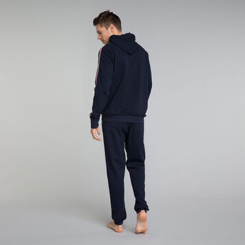 Sudadera con capucha azul marino 100% algodón - Mix and Match, , DIM