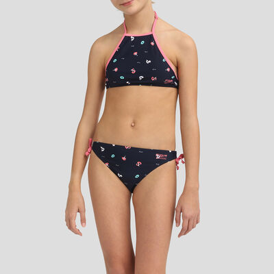 Bikini tipo bandeau de 2 piezas azul marino para niña , , DIM