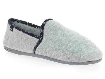 Chaussons gris avec coutures à imprimé constellation-DIM