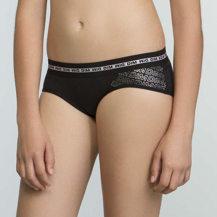 Pack de 2 shortys negros DIM Sport para niña, , DIM