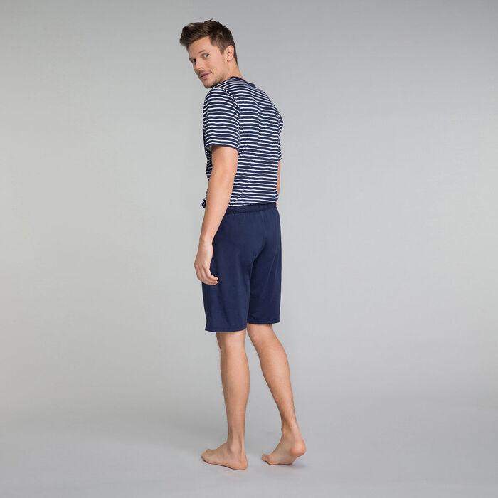 Pantalón corto de pijama azul marino 100% algodón - Fashion Navy, , DIM