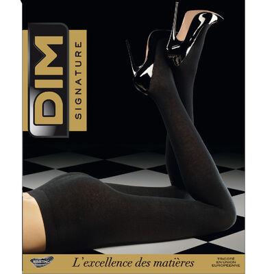 Panti negro DIM SIGNATURE cachemira* térmico 158D, , DIM