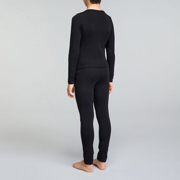 T-shirt noir manches longues en coton DIM Boy-DIM