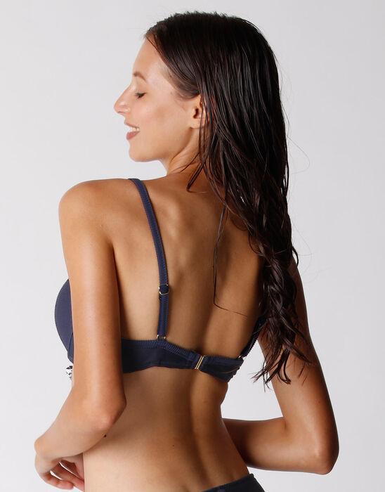Sujetador de traje de baño azul ultramarino con aros para mujer, , DIM
