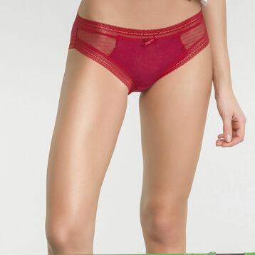 Pack de 2 braguitas rojas de encaje - Sexy Transparency, , DIM