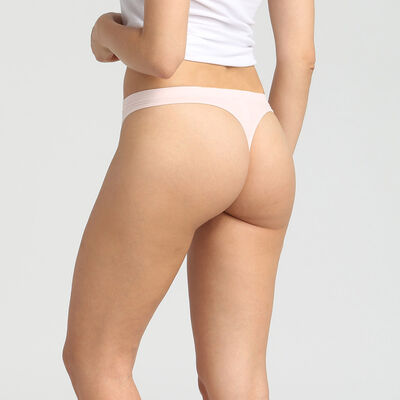 Pack of 2 blue and pink seamless thongs Les Pockets EcoDim, , DIM