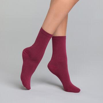 Calcetines de algodón burdeos - Dim Basic Coton, , DIM