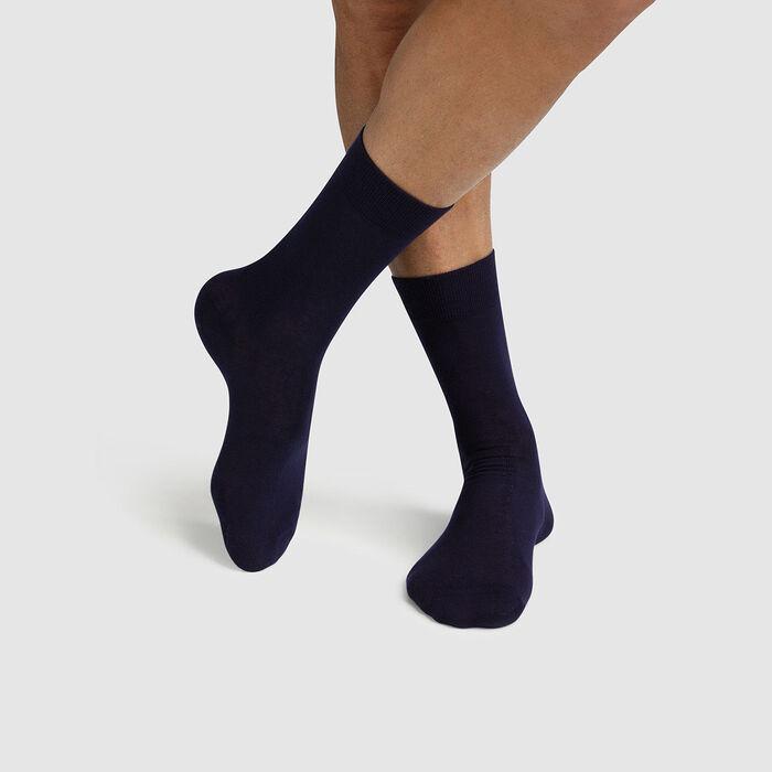 Pack de 2 pares de calcetines para hombre lyocell azul Green by Dim, , DIM