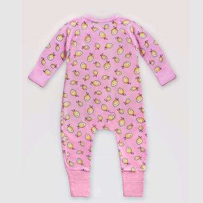 Pijama para bebé con cremallera de algodón elástico estampado limón Dim  Baby, , DIM