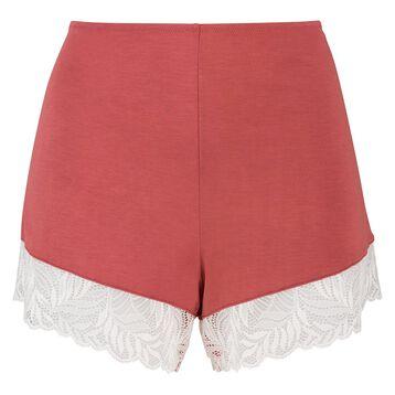 Pantalón corto de pijama de algodón modal y encaje marsala Cosy Lady de Dim, , DIM