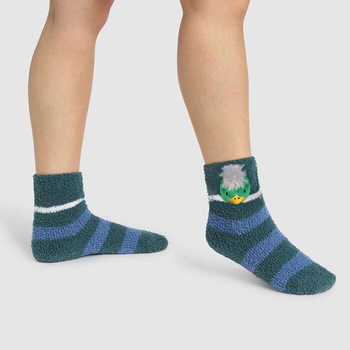 Calcetines para niños antideslizantes cabeza de pato 3D verde Kids Cocoon, , DIM